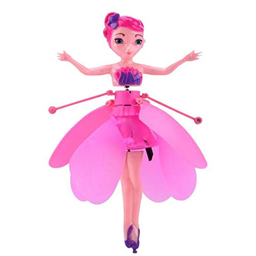 FUNNYHOUSX Flying Fairy Toy Doll,Magical Infrared Induction Control Flying Pixie Toy USB Charging Child Flying Xmas Gift Doll Toy for Kids Teens Toys Birthday Present (Pink)