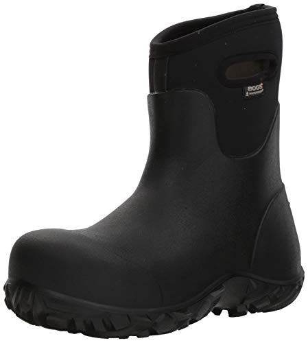 Bogs Men's Workman Mid Composite Toe Waterproof Construction Boot, Black, 7