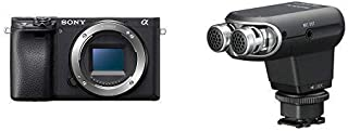 Sony Alpha A6400 Mirrorless Camera E Mount Compatible - Ilce-6400/B Body with Sony ECMXYST1M Stereo Microphone (Black)