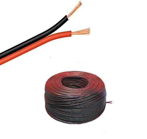 Câble LED 5 à 100 m - Torons jumelés 2 x 1,5 mm² rouges et noirs - 2 connecteurs - Longueur au choix : 10m Zwillingslitze 2x 1,50mm²