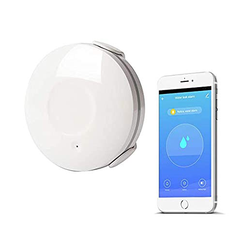 Wifi watersensor, Smart Flood Sensor Home automatisch alarmsysteem, lekdetector, compatibel met Amazon Alexa/Google Home/iOS/Android, geen hub