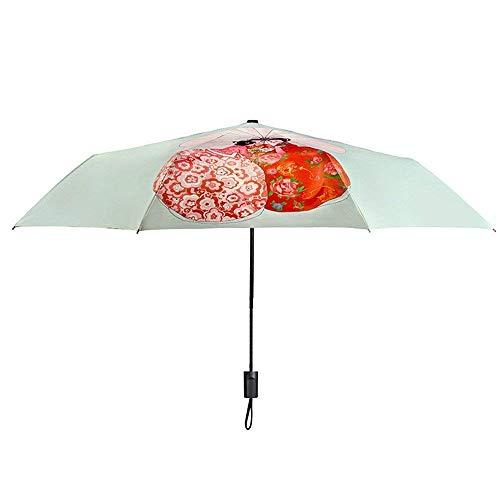 YNHNI Paraguas, Paraguas de Verano para Mujer, Paraguas UV, sombrillas de Golf al Aire Libre, Paraguas de Regalo de Alta Gama, Paraguas de protección Solar,Portátil (Color : A)
