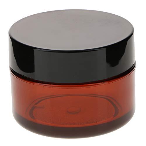 perfeclan En Plastique Cosmétique Cas Ongles Art Maquillage Maquillage Pot à Lèvres Pot Avec Bouchon à Vis Pour Produits De Beauté Et De Bricolage - Marron
