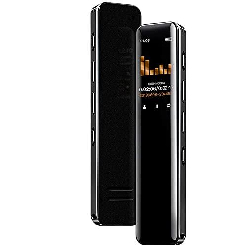 ボイスレコーダー ICレコーダー 3072kbps超高音質録音 IPSカラー液晶画面 内蔵マイク ワンボタン録音長時間連続録音 小型 超軽量 大容量バッテリー ハイレゾ録音 録音機 ステレオ録音 集音器 音声検知録音/タイマー録音/変速再生/A-Bリピート再生/パスワード保護 多機能ボイスレコーダー 携帯便利 操作簡単 スピーカー内蔵 セクハラ対策