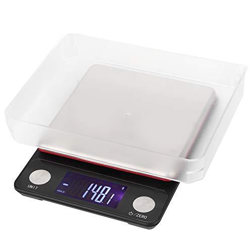 Heaveant Küchenwaage, Hochpräzise Digitalwaage USB Wiederaufladbare Lebensmittelwaage Multifunktionale Elektronische Waage 5 kg/0,1 g