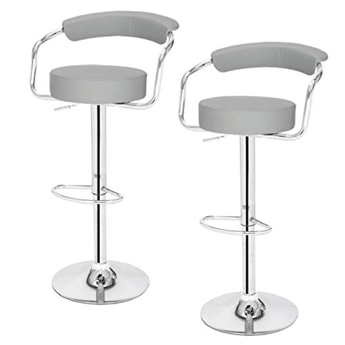 SSJ-105 High-Grade Round Back Cushion Bar Stool Grey