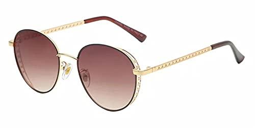 JWDS Gafas de Sol para Mujer Gafas De Sol Punk Redondas Para Mujer Gafas Mujeres Eyewear Uv400 Protección Lente