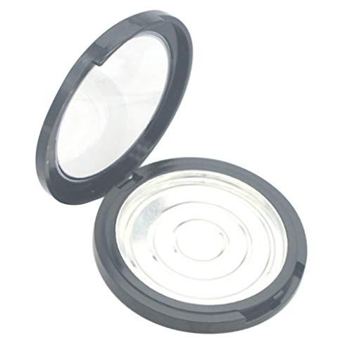T TOOYFUL 12g Vide Femmes Maquillage Poudre Cas Rond Fard à Joues Surligneur Boîte De Conteneur 2.3 '' - Noir, Couvercle transparent