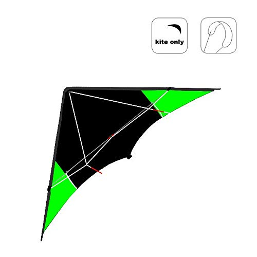 Wolkenstürmer Dynamic Delta Speed Powerdrachen Neon Grün Zweileiner Lenkdrachen