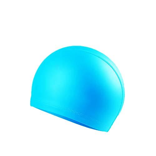 水泳帽 水泳帽子 スイミングキャップ 伸縮性 水泳キャップ 競泳練習 学生 無地 水着素材 防水 UVカット 温泉用 海水浴 速乾 プール シンプル フィット 通気性 レイクブルー