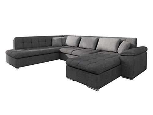 Mirjan24 Eckcouch Ecksofa Niko Bis! Design Sofa Couch! mit Schlaffunktion und Bettkasten! U-Sofa Große Farbauswahl! Wohnlandschaft vom Hersteller (Ecksofa Rechts, Lux 06 + Lux 06 + Lux 05)