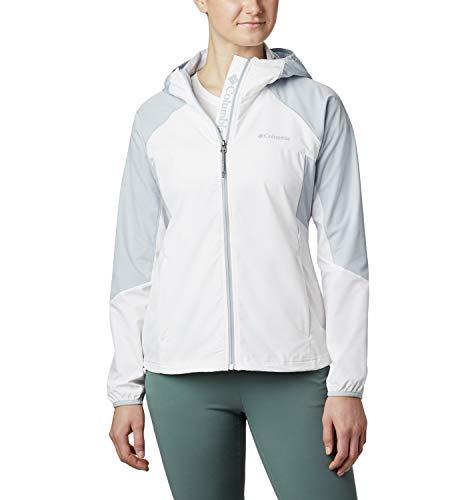 Columbia Jacke für Damen, Sweet Panther, Weiß/Grau (White, Cirrus Grey), M, 1886971