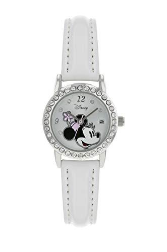 Disney Minnie Mouse - Reloj de pulsera para mujer, color blanco brillante – MN1392