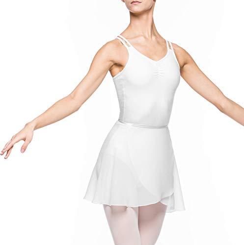 Arabesque Damen Ballett Wickelrock Ballettrock 2007 (M, Weiß)