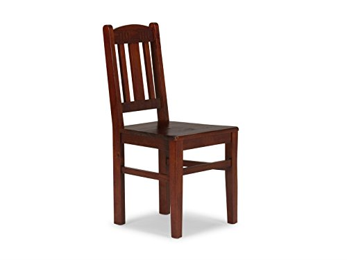 massivum Stuhl Catana Pinie braun lackiert Holzstuhl Esszimmerstühle
