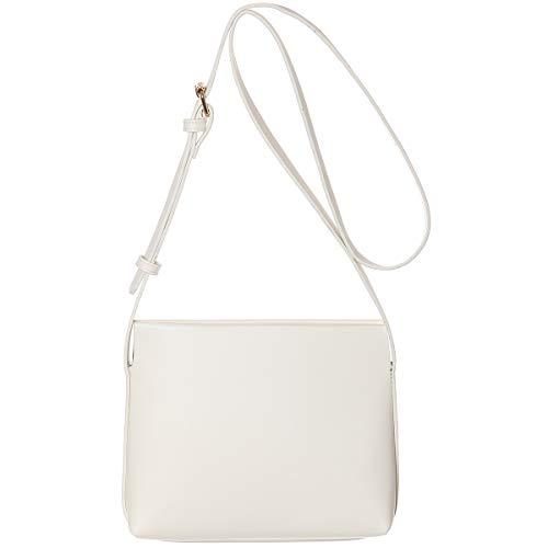 Haytijoe Small Crossbody Shoulder Bags Simple Style Small Purses and Handbags Crossbody for Women(Cream)