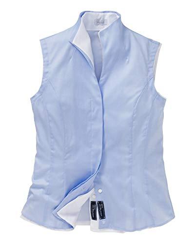 van Laack Damen Alisa-NOS Bluse, Blau (Hellblau 720), 36