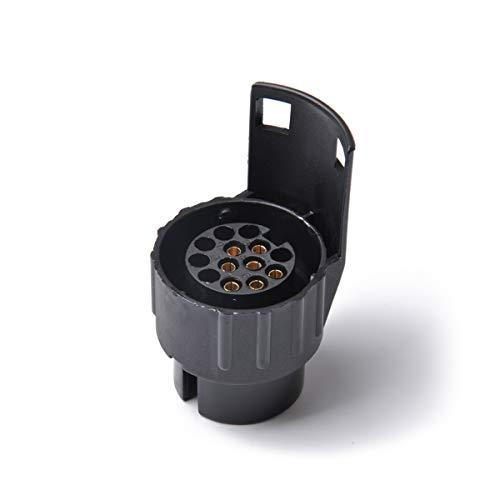 Adaptador de remolque impermeable Las eléctricas duradera convertidor 13 Pin Remolque Caravana adaptador de enchufe a 7 Pin Socket barra de remolque Para coches y remolques ( Color : Black )