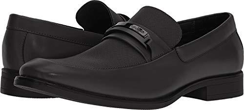Calvin Klein Men's Ervin Soft Action Smooth/Embossed Black Ankle-High Leather...