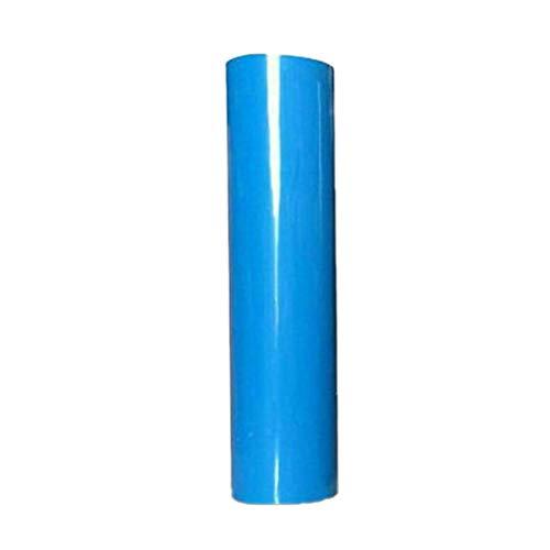 熱転写ラバーシート アイロンプリントシート レッド100cm×20cm (青い, 100cm×20cm)