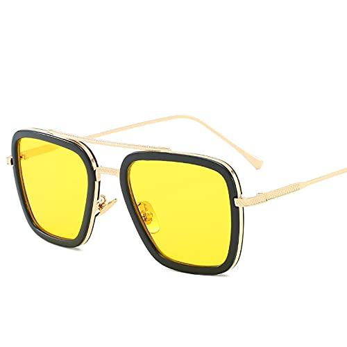 Gafas de Sol Sunglasses Gafas De Sol Steampunk Vintage para Hombre Y Mujer,Gafas DeDiseñadorRetro A Prueba De Viento, Gafas De Sol Punk De Vapor Uv400 C7Anti-UV