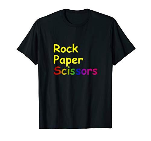 Stein Schere Papier Lustiges Geschenk T-Shirt