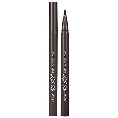 CLIO Waterproof Pen Liquid Eye Liner | Precision Tip, Long Lasting, Smudge-Resistant, High-Intensity Color | Gray Brown (#06)