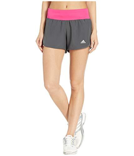 adidas Women's Run It Shorts, Grey/Real Magenta, Medium 4'