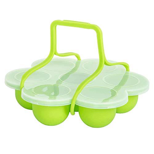 Molde de silicona Egg Bites con clip en la tapa y manijas Otros Ollas de Presión Accesorios |Bebé de almacenamiento de alimentos, molde de la hornada, bandeja de hielo del congelador, Bajo vacío huevo