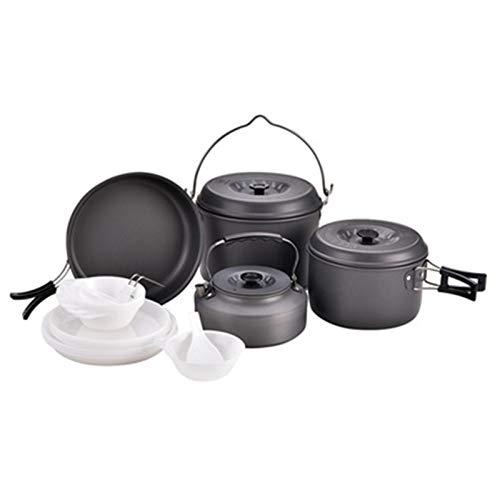 LiChaoWen Kit de desorden de Utensilios de Cocina para acamp Camping Pot COCAL DE Cocina DE Cocina PURSO PUERTE DE Cocina Porte para EL SIGNIZACIÓN DE Cambio ALTAL (Color : Black, Size : 7-8 People)