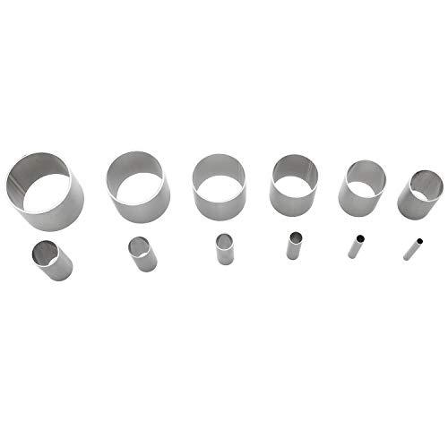 LONGDEX 점토 절단기 12 개 중공 스테인리스 스틸 라운드 조각 펀치한 도구 중합체 세라믹 도자기를 들여쓰기 원형 모양의 절단기 금형
