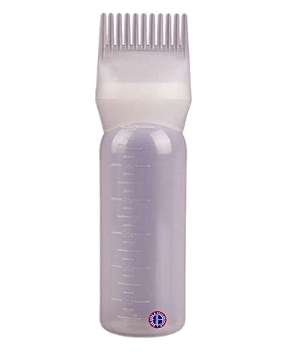 Ear Lobe & Accessories Ear Lobe Accessories Hair Oil Bottle With Comb 120 ml, Hair Dye Applicator