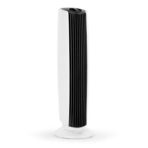Oneconcept St. Oberholz XL Purificador ionizador Ventilador de Aire (ultracompacto, Poco Ruido, bajo Consumo, Elimina hasta 97,6% de gérmenes y bacterias) - Negro/Blanco