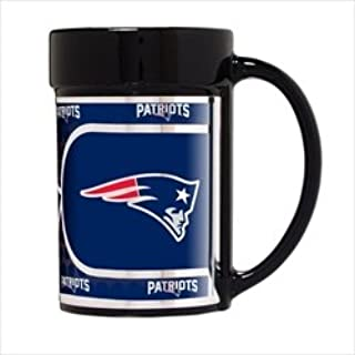 New England Patriots 15 oz Ceramic Coffee Mug with Metallic Graphics
