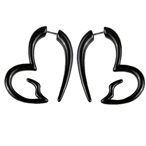 Ruluti Pendientes De Acrílico Unisex Oído del Perno Prisionero Piercing Oreja Decoración Joyería Punky del Oído De Mujeres De Los Hombres