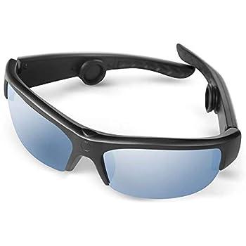 AcTek 骨伝導 サングラス ヘッドホン bluetooth スポーツサングラス 骨伝導メガネ ワイヤレス ヘッドセット 耳フリー UV/霧/割れカット apt-X搭載 CVCノイズキャンセリング技術 ハンズフリー IPX6 防水 サイクリング スポーツイヤホン (ブラック)