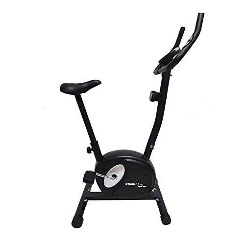 Bicicleta Estática Keboo Serie 500 Magnética con Pulsómetro de Manillar, 8 Niveles, Asiento Ajustable y Pantalla LCD