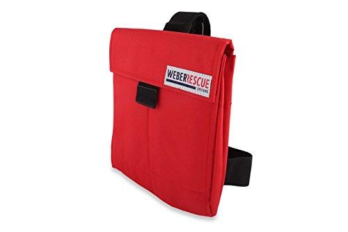 s'Täschle - Werkzeugtasche, THL-Holster von WEBER RESCUE (rot) als Oberschenkeltasche mit schließbarem Deckel