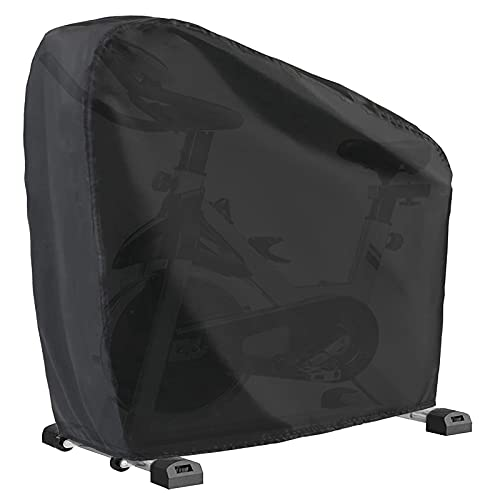 """WOMACO Exercise Bike Cover Waterproof Dustproof Upright Indoor Cycling Protector Stationary Recumbent Peloton Bicycle Protective Covers for Outdoor Protection (Black, 48"""" L x 23"""" W x 56"""" H)"""