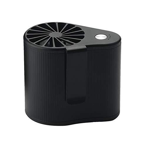 CAREMiLLE USB Ventilador portátil Manos Libres Ventilador de Cintura Colgante Recargable Ventilador Deportivo de 3 velocidades, Mini Ventilador de Escritorio, Negro
