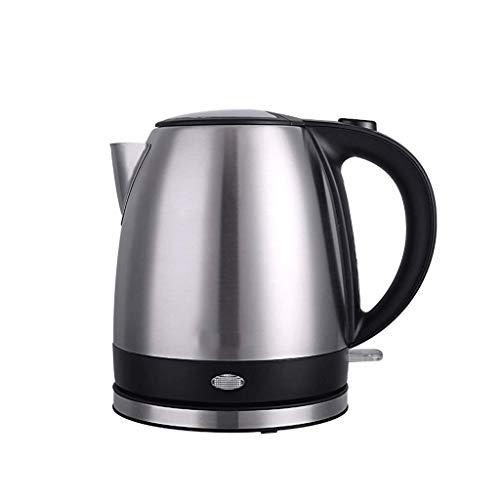 MMWYC - Calentador de té inalámbrico de acero inoxidable de 1,2 l, ebullición rápida, apagado automático y ebullición de la protección contra la sequedad