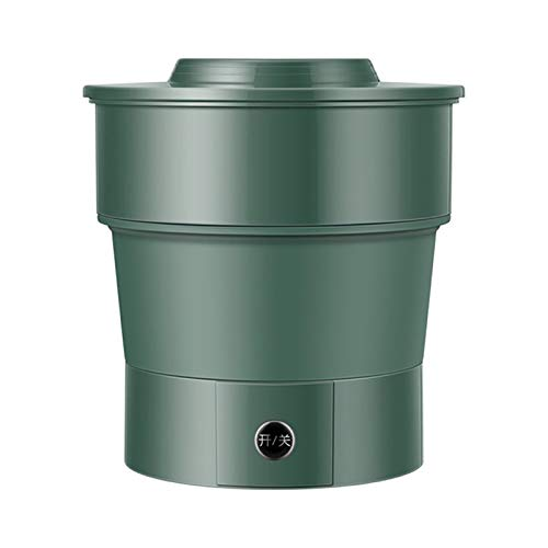 KCCCC Pequeña Lavadora automática de Ropa Interior Lavadora Plegable Lavadora portátil de Lavado de Viaje Calcetines pequeña Mini lavandería máquina Mini Lavadora (Color : Green, Size : 19x19x20cm)