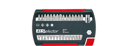 Wiha Bit Set, XLSelector, 31-tlg., 25mm Bits, inkl. Bithalter, Schlitz - Kreuz / Phillips - Pozidriv - Torx, 1/4 Zoll, robust und passgenau, kompakt und platzsparend verstaut