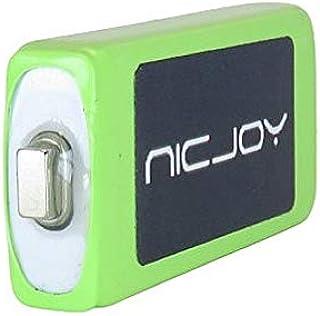 NICJOY ガム電池 ニッケル水素充電池 Panasonic D-snap SDオーディオプレーヤー 用 HHF-AZ10 BKS001 互換品 NIC-HHF1