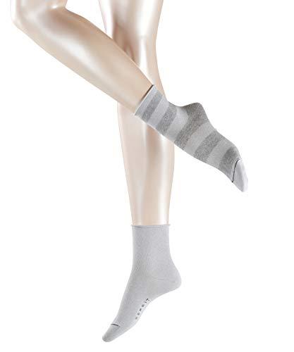 ESPRIT Damen Socken Sparkling Diamond 2er Pack - Baumwollmischung, 2 Paar, Grau (Light Grey 3400), Größe: 35-38