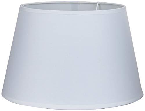Better & Best 30 Lampenschirm aus Baumwolle, rund, weich, glatt, 30 cm, Weiß