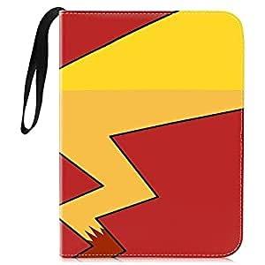 Jsvacva Soporte para tarjetas de memoria para cuadernos, 400 tarjetas para 50 páginas, 4 bolsillos, color rojo y amarillo