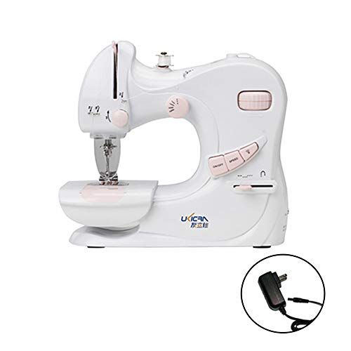 Kecheer Portable Sewing Machine, Multifunctional 2 Speed Adjustable Mini Home Sewing Machine Household Mask Sewing Maker Hemline for Amateurs Beginners Embroidery