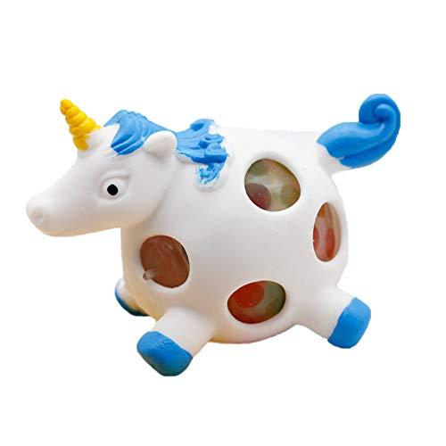 Stressabbau-Spielzeug, sensorisch, ungiftig, Druckball, Einhorn, Handball, Knautschball, für Kinder und Erwachsene, 1 Stück