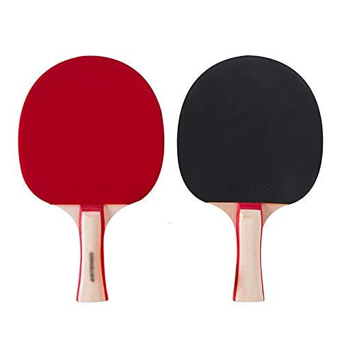Palas de Ping Pong Tabla Raqueta de Tenis 2 Pack Doble Principiante Tiro Horizontal Tipo de Entrenamiento for Principiantes Raqueta de Entretenimiento Traje de la Familia